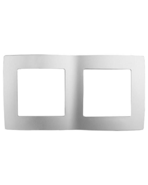 12-5002-03 ЭРА Рамка на 2 поста, Эра12, алюминий (10/100/3600)
