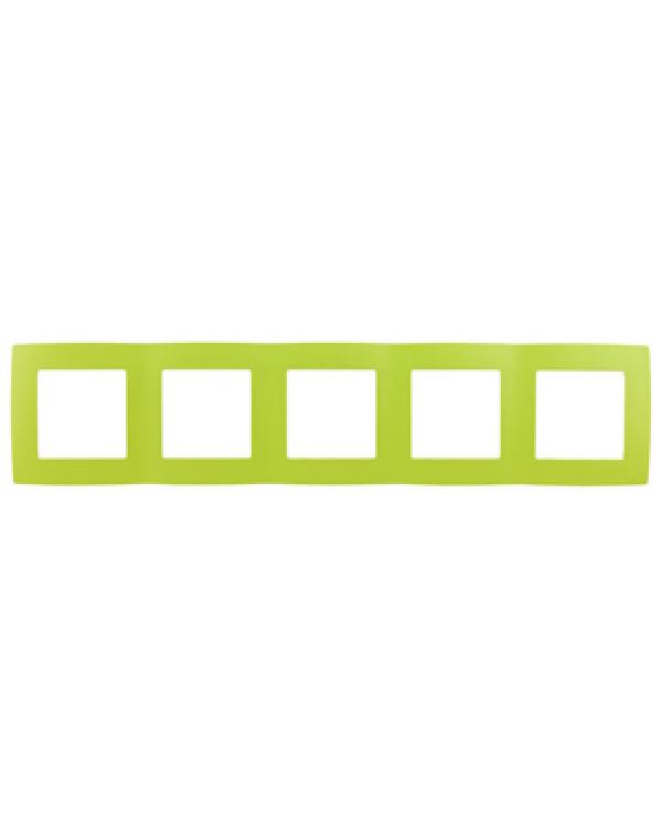 12-5005-26 ЭРА Рамка на 5 постов, Эра12, лайм (10/100/1600), 12-5005-26