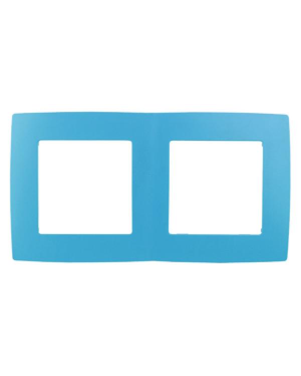 12-5002-28 ЭРА Рамка на 2 поста, Эра12, голубой (10/100/3000)