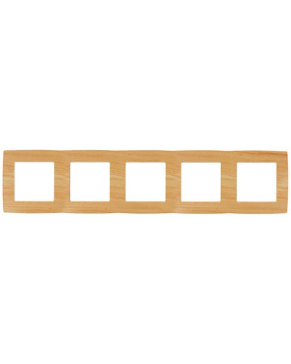 12-5005-11 ЭРА Рамка на 5 постов, Эра12, сосна (10/100/1600)