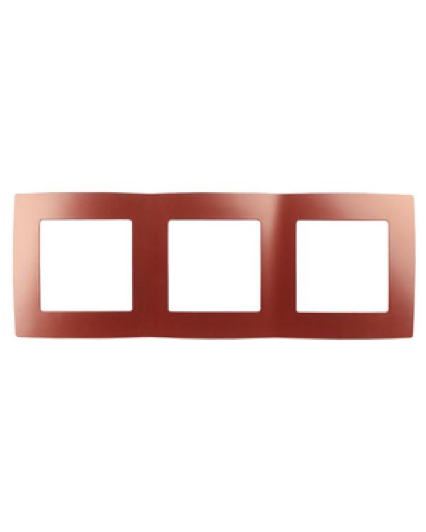 12-5003-24 ЭРА Рамка на 3 поста, Эра12, охра (15/150/2400), 12-5003-24
