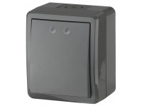 11-1401-03 ЭРА Выключатель IP54, 10АХ-250В, ОУ, Эра Эксперт, серый (16/160/2560)