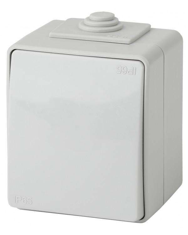 11-1601-03 ЭРА Выключатель IP65, 10АХ-250В, ОУ, Эра Эксперт, серый (10/100/1600)