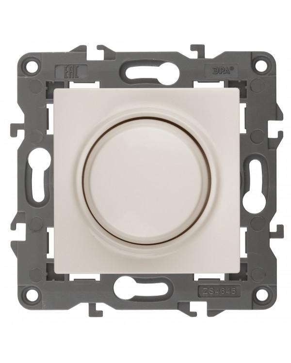14-4101-02 ЭРА Светорегулятор поворотно-нажимной, 400ВА 230В, IP20, Эра Elegance, сл.кость (6/60/960