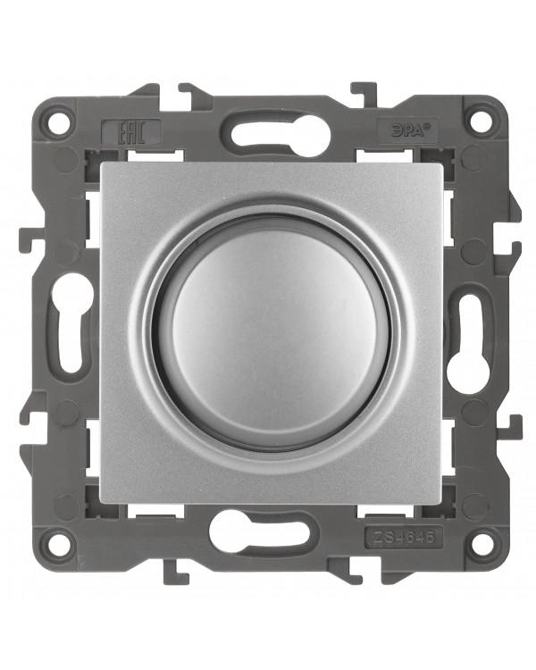 14-4101-03 ЭРА Светорегулятор поворотно-нажимной, 400ВА 230В, IP20, Эра Elegance, алюминий (6/60/180, 14-4101-03