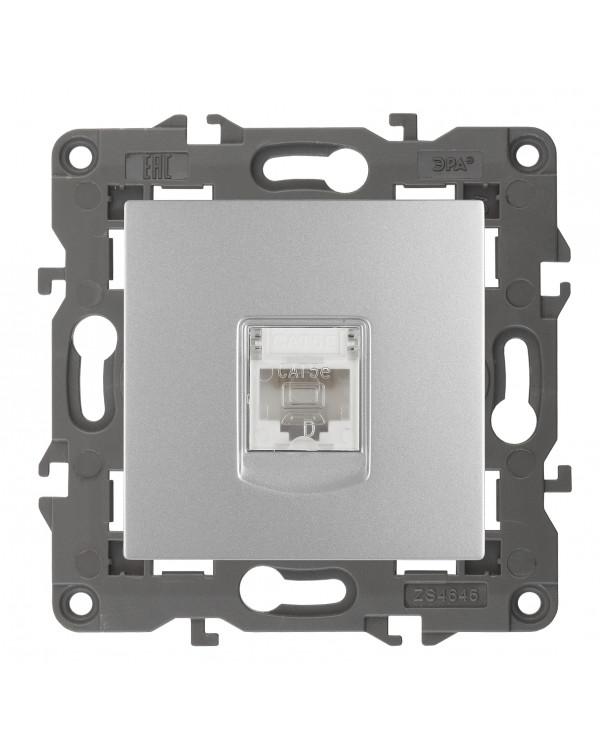 14-3107-03 ЭРА Розетка RJ45, IP20, алюминий (10/100/3000)