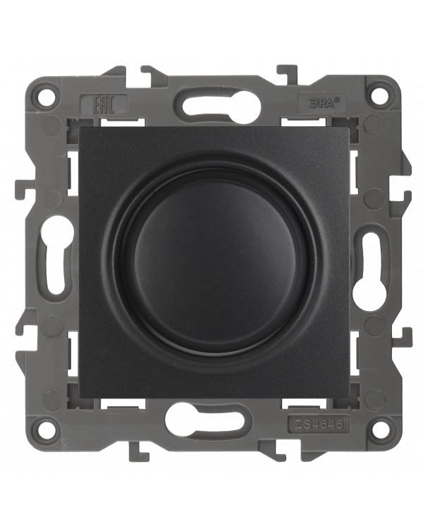 14-4101-05 ЭРА Светорегулятор поворотно-нажимной, 400ВА 230В, IP20, Эра Elegance, антрацит (6/60/180