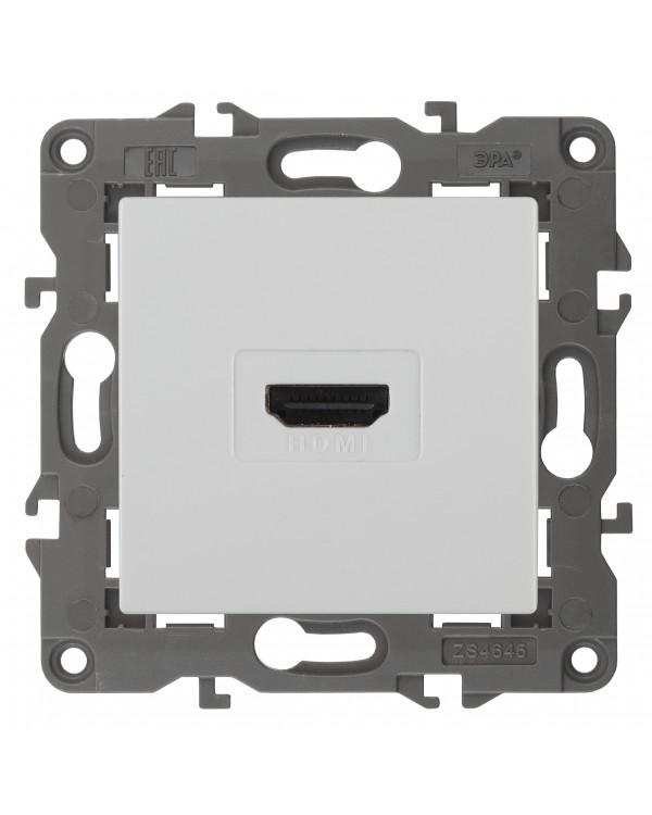 14-3114-01 ЭРА Розетка HDMI, IP20, Эра Elegance, белый (10/100/3200)