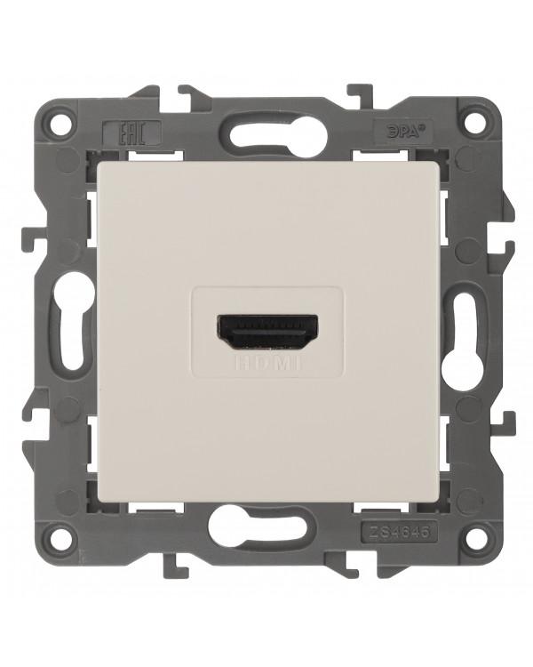 14-3114-02 ЭРА Розетка HDMI, IP20, Эра Elegance, сл.кость (10/100/3200), 14-3114-02
