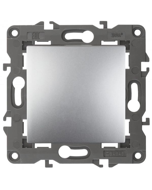 14-1111-03 ЭРА Кнопка, 10АХ-250В, Elegance, алюминий (10/100/2500)