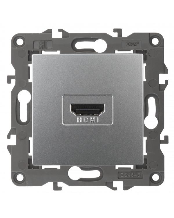 14-3114-03 ЭРА Розетка HDMI, IP20, Эра Elegance, алюминий (10/100/3200)