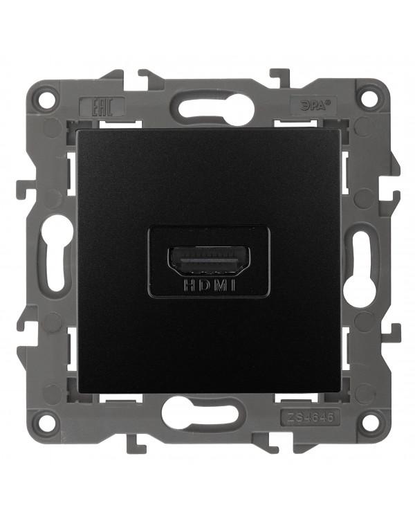 14-3114-05 ЭРА Розетка HDMI, IP20, Эра Elegance, антрацит (10/100/3200)