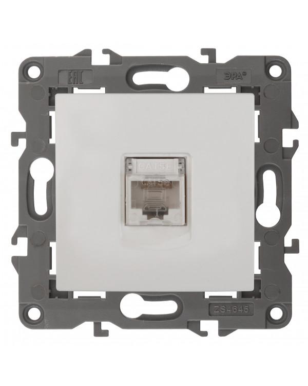 14-3107-01 ЭРА Розетка RJ45, IP20, белый (10/100/3000)