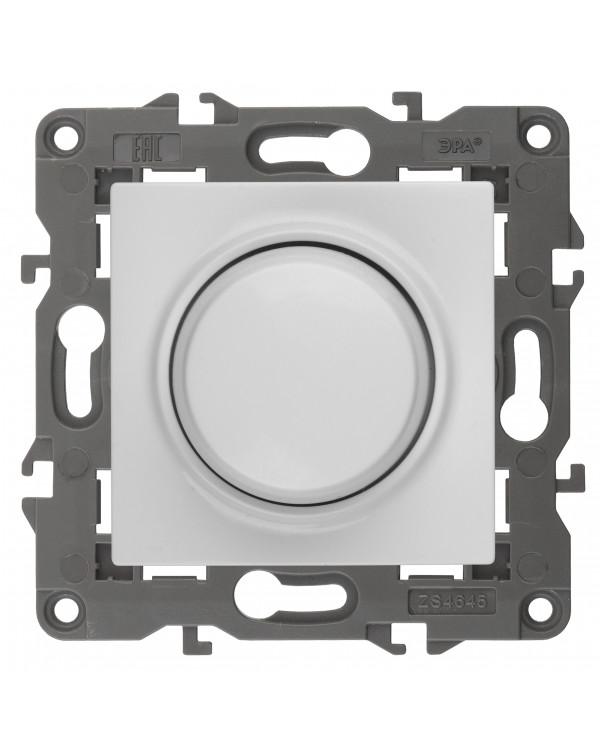 14-4101-01 ЭРА Светорегулятор поворотно-нажимной, 400ВА 230В, IP20, Эра Elegance, белый (6/60/1800)