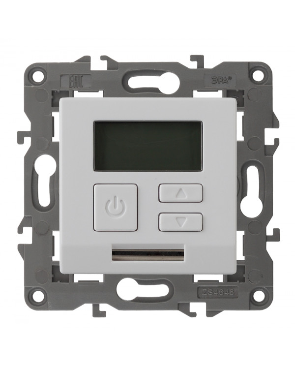 14-4111-01 ЭРА Терморегулятор универс. 230В-Imax16А, IP20, Эра Elegance, белый (6/60/1080), 14-4111-01