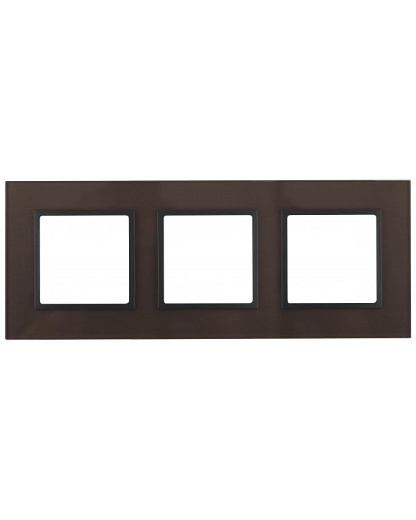14-5103-13 ЭРА Рамка на 3 поста, стекло, Эра Elegance, бронза+антр (5/25/750)