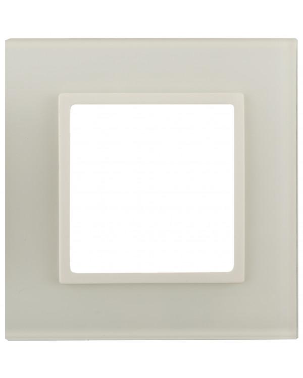 14-5101-02 ЭРА Рамка на 1 пост, стекло, Эра Elegance, сл.кость+сл.к (10/50/1800)
