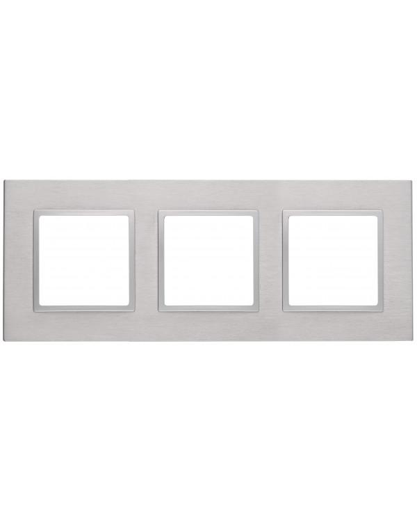 14-5203-03 ЭРА Рамка на 3 поста, металл, Эра Elegance, алюминий+алюм (5/25/750)