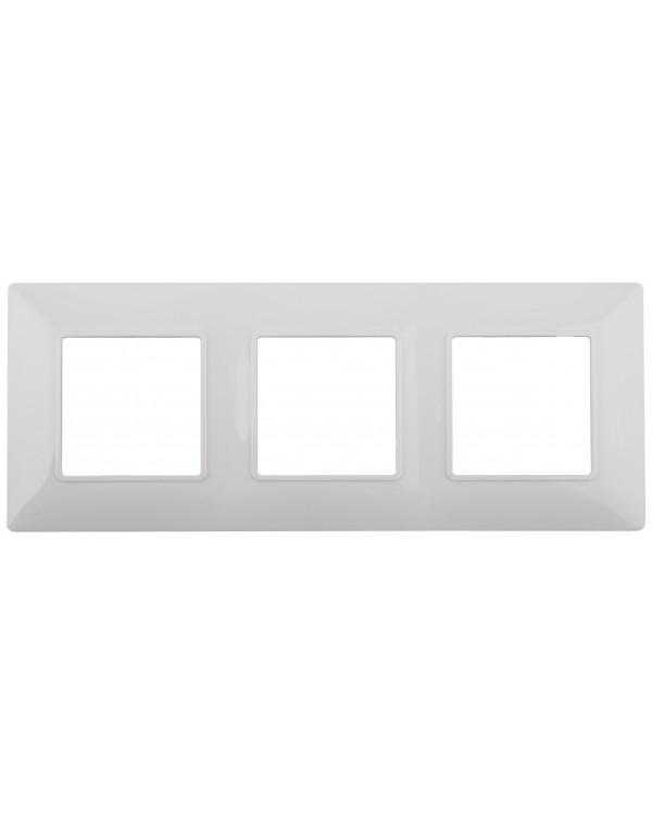 14-5003-01 ЭРА Рамка на 3 поста, Эра Elegance, белый (10/100/1200)