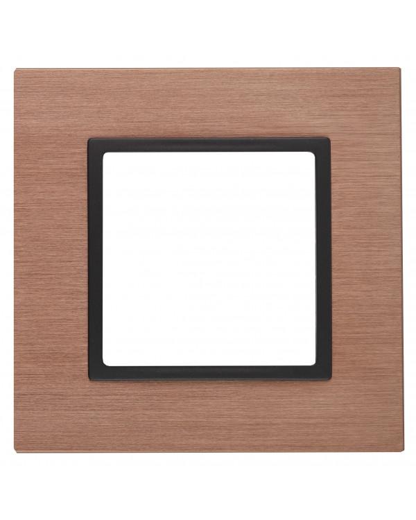 14-5201-14 ЭРА Рамка на 1 пост, металл, Эра Elegance, медь+антр (10/50/1800)