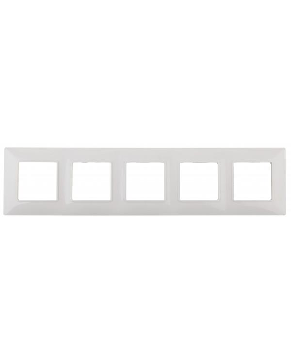 14-5005-01 ЭРА Рамка на 5 постов, Эра Elegance, белый (10/100/800)
