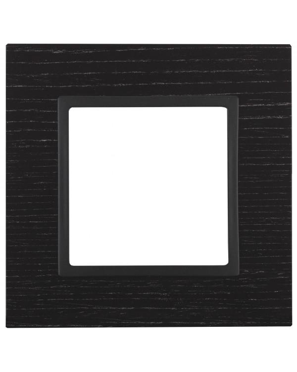 14-5301-05 ЭРА Рамка на 1 пост, дерево, Эра Elegance, чёрн.дерево+антр (10/50/1800)