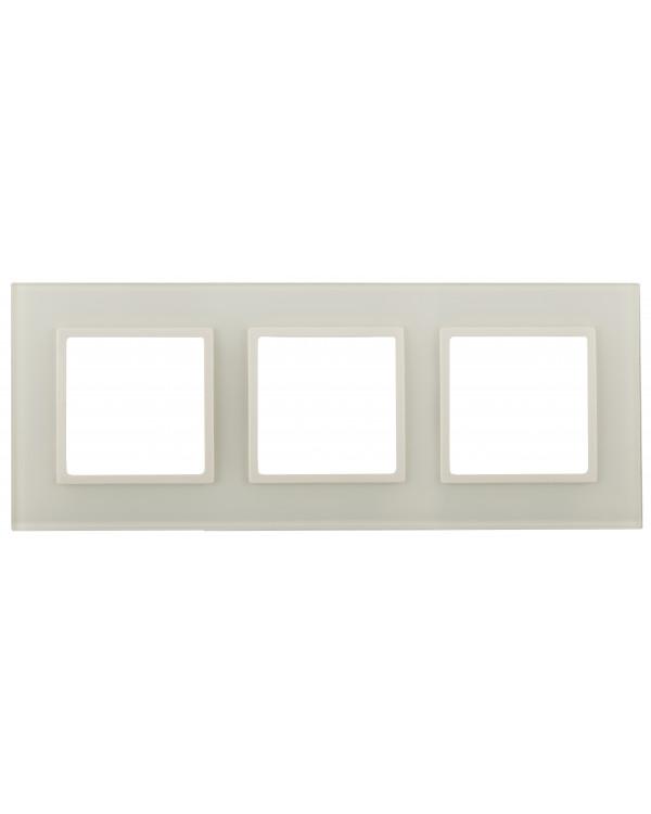 14-5103-02 ЭРА Рамка на 3 поста, стекло, Эра Elegance, сл.кость+сл.к (5/25/900)