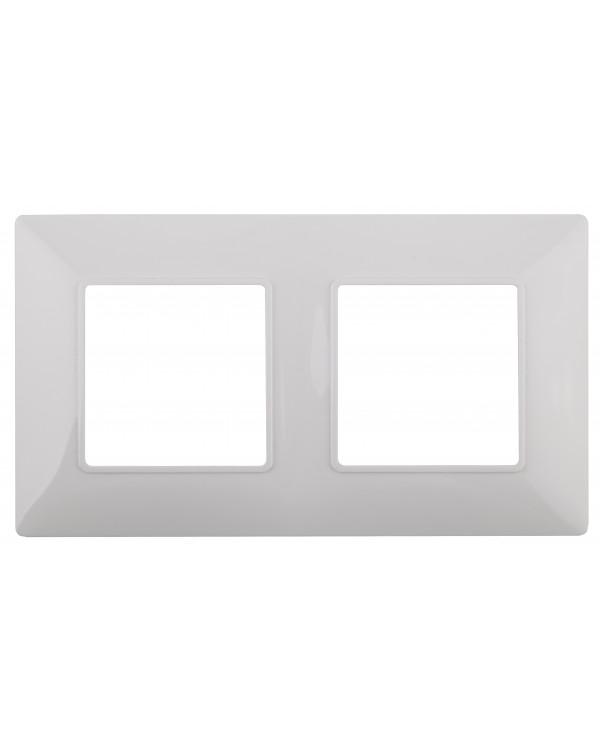 14-5002-01 ЭРА Рамка на 2 поста, Эра Elegance, белый (10/100/3000), 14-5002-01