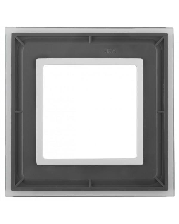 14-5101-00 ЭРА Рамка на 1 пост, стекло, Эра Elegance, прозрачный+бел (10/50/1800)