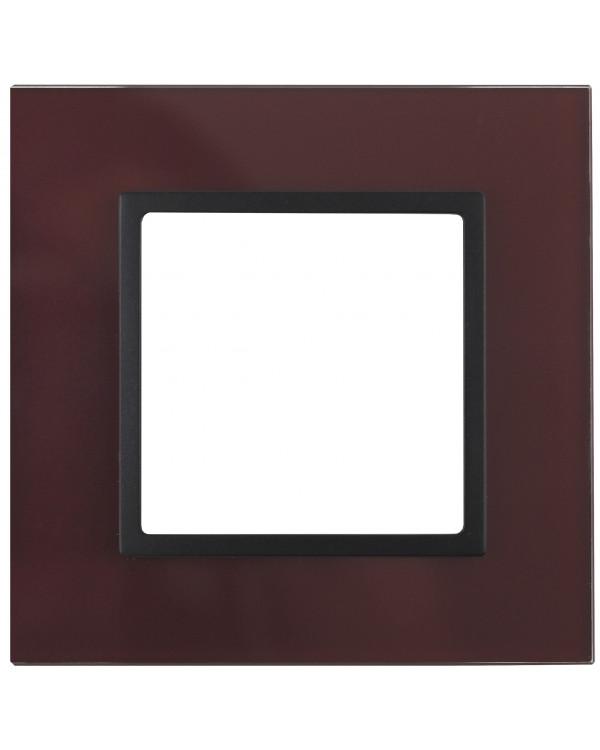 14-5101-25 ЭРА Рамка на 1 пост, стекло, Эра Elegance, бордо+антр (10/50/1800)