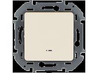 """Выключатель одноклавишный с подсветкой/индикацией Legrand Inspiria для скрытого монтажа, цвет """"Слоновая кость"""", номинальный ток 10 А, напряжение ~250 В"""