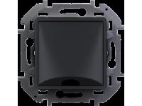 """Вывод кабеля Legrand Inspiria для скрытого монтажа, максимальный диаметр кабеля 12 мм, с зажимом для крепления, цвет """"Антрацит"""""""