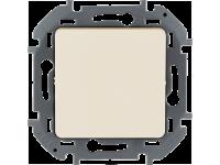 """Выключатель одноклавишный Legrand Inspiria для скрытого монтажа, цвет """"Слоновая кость"""", номинальный ток 10 А, напряжение ~250В"""