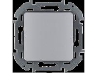 """Выключатель одноклавишный Legrand Inspiria для скрытого монтажа, цвет """"Алюминий"""", номинальный ток 10 А, напряжение ~250В"""