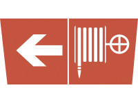 "INFO-DBA-010 ЭРА Самоклеящаяся этикетка 200х60мм ""Пожарный кран/стрелка налево"" DPA/DBA (5/15000)"
