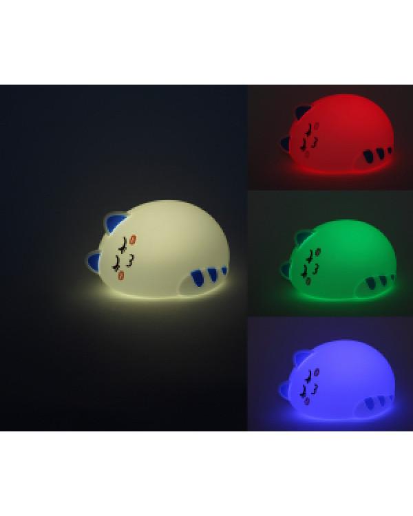 ЭРА NLED-415-2W-BU белый с синим наст.светильник (30/60/240), NLED-415-2W-BU
