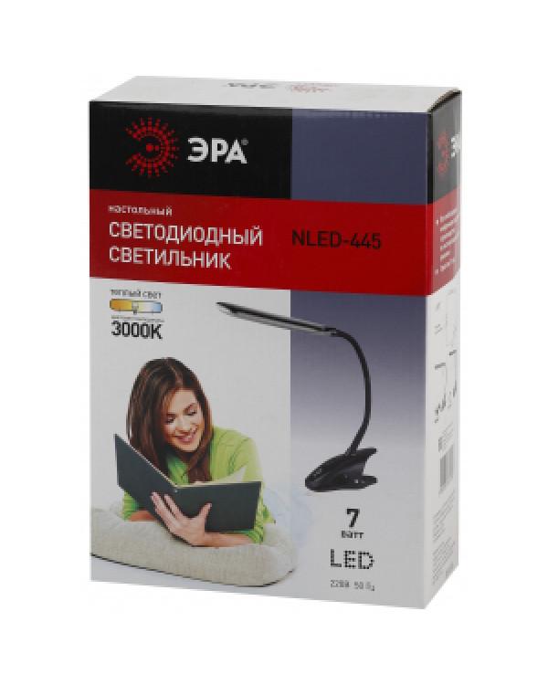 ЭРА наст.светильник NLED-445-7W-BK черный (16/192)