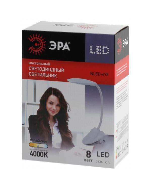 ЭРА NLED-478-8W-W белый наст.светильник (20/160), NLED-478-8W-W