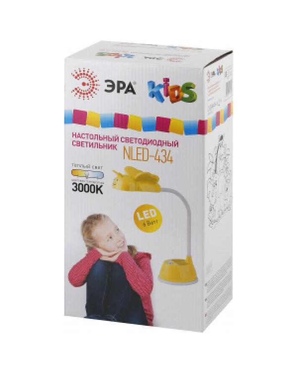ЭРА NLED-434-6W-Y желтый наст.светильник (16/96), NLED-434-6W-Y