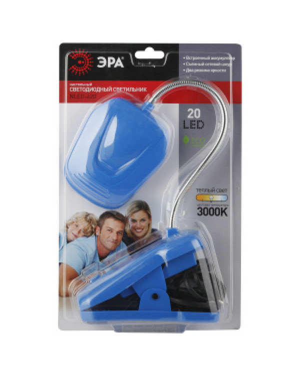 ЭРА наст.светильник NLED-420-1.5W-BU синий (10/40/320), NLED-420-1.5W-BU