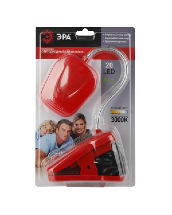 ЭРА наст.светильник NLED-420-1.5W-R красный (10/40/320), NLED-420-1.5W-R