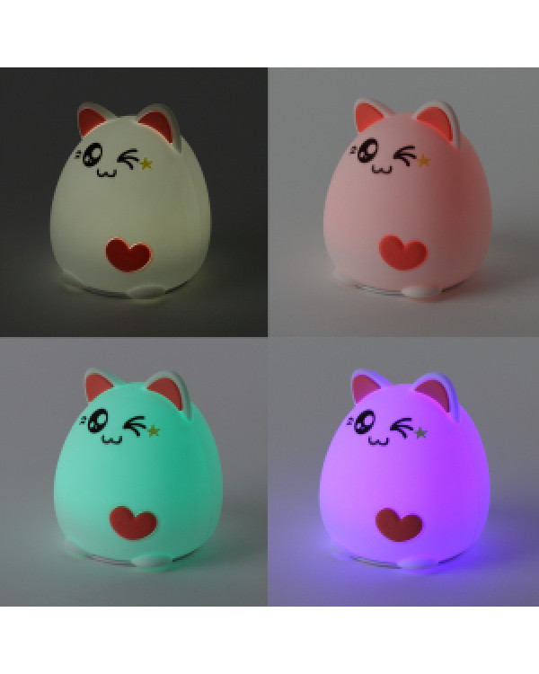 ЭРА NLED-413-1W-P белый с розовым наст.светильник (30/60/360), NLED-413-1W-P
