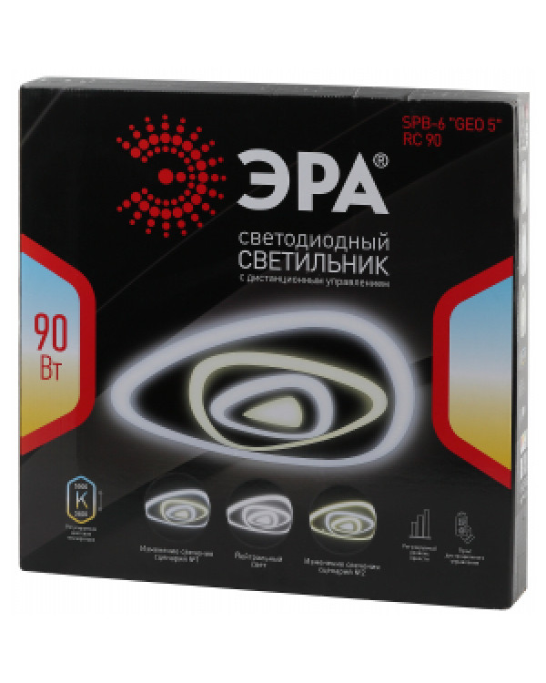 """SPB-6 """"GEO 5"""" RC 90 ЭРА Светодиод. св-к 90Вт 3400-5500К с пультом ДУ (5/20)"""