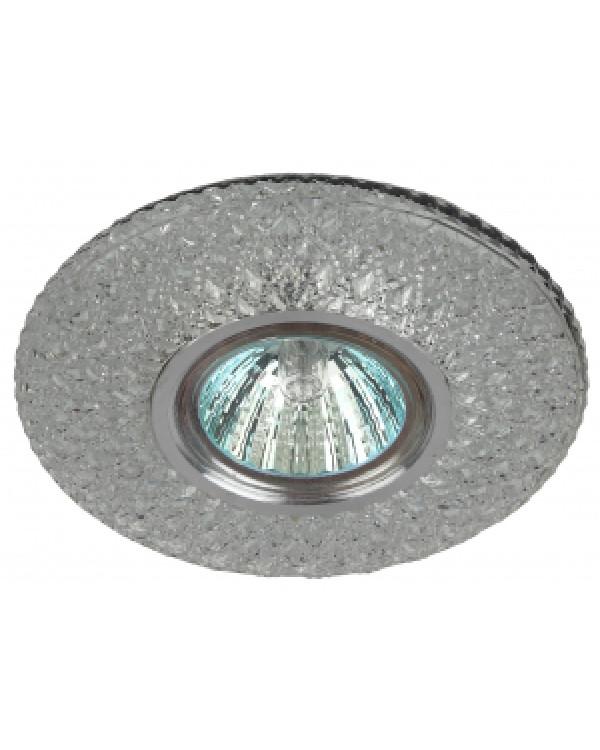 DK LD33 SL/WH Светильник ЭРА декор cо светодиодной подсветкой MR16, прозрачный (40/1200), DK LD33 SL/WH