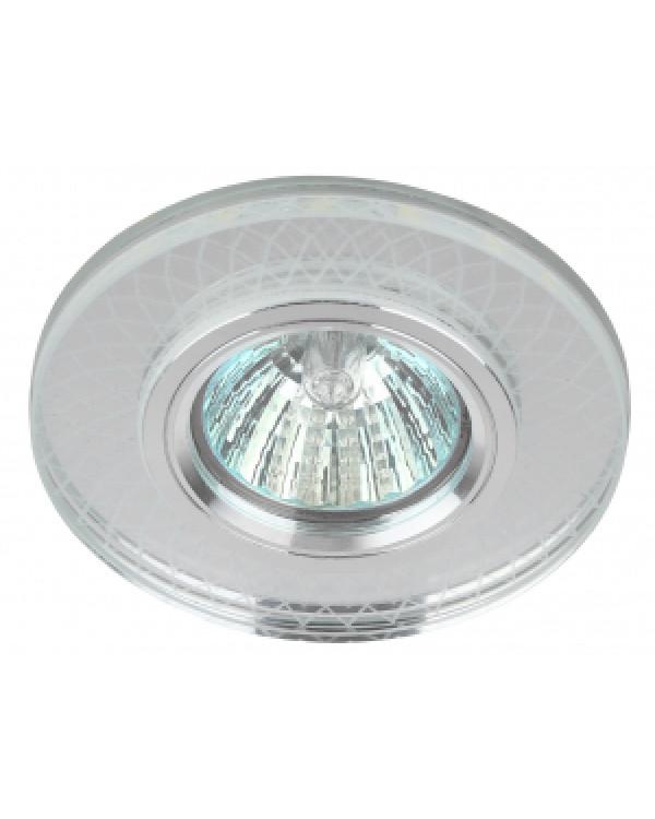 DK LD43 SL 3D Светильник ЭРА декор cо светодиодной подсветкой MR16, зеркальный (50/2000), DK LD43 SL 3D