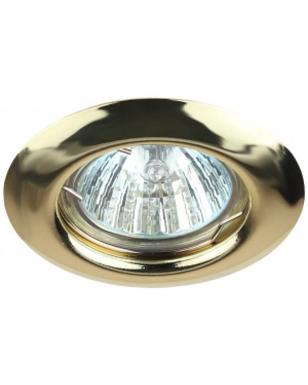 ST3 GD Светильник ЭРА штампованный MR16,12V/220V, 50W золото (200/3000)
