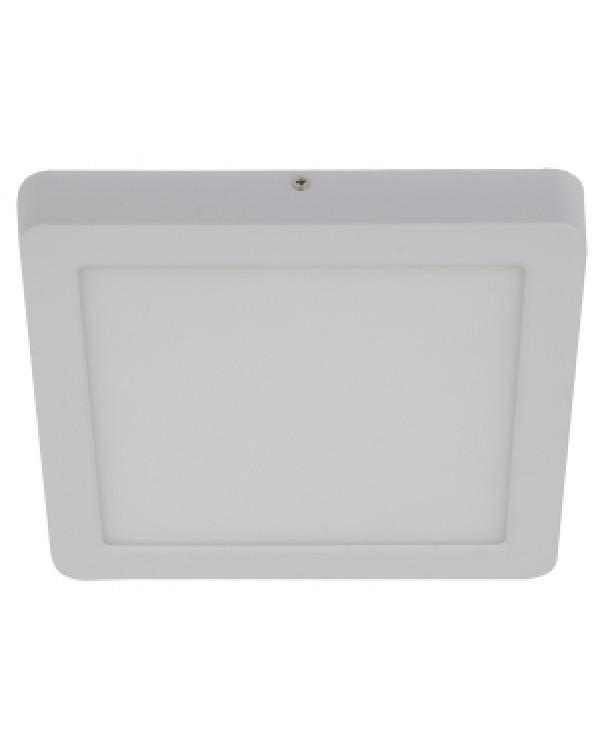 LED 9-18-4K Светильник ЭРА светодиодный квадратный накладной LED 18W 220V 4000K, белый (10/350), LED 9-18-4K