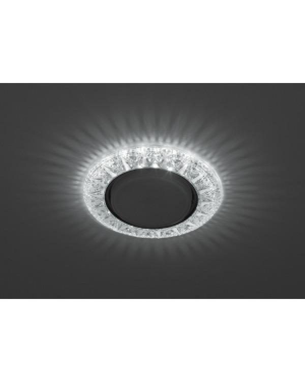 DK LD22 SL/WH Светильник ЭРА декор cо светодиодной подсветкой Gx53, прозрачный (50/800), DK LD22 SL/WH