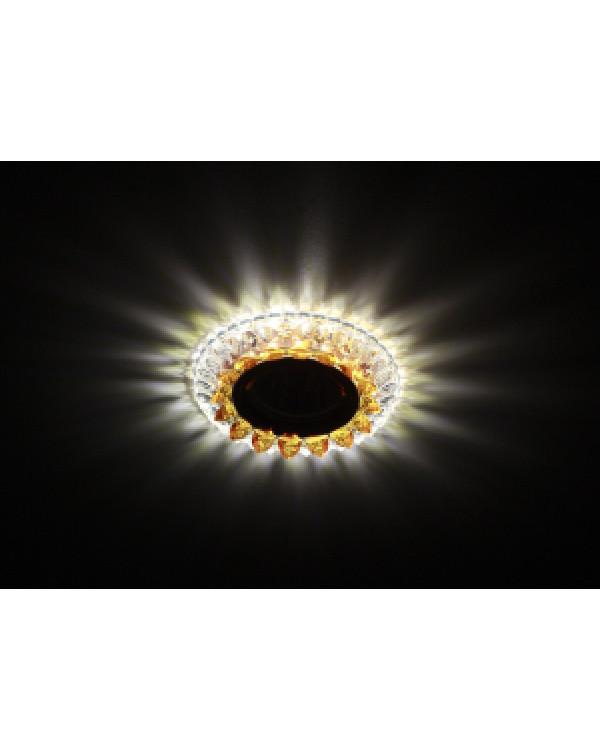 DK LD19 SL OR/WH Светильник ЭРА декор cо светодиодной подсветкой MR16, прозрачный оранжевый (50/1400, DK LD19 SL OR/WH