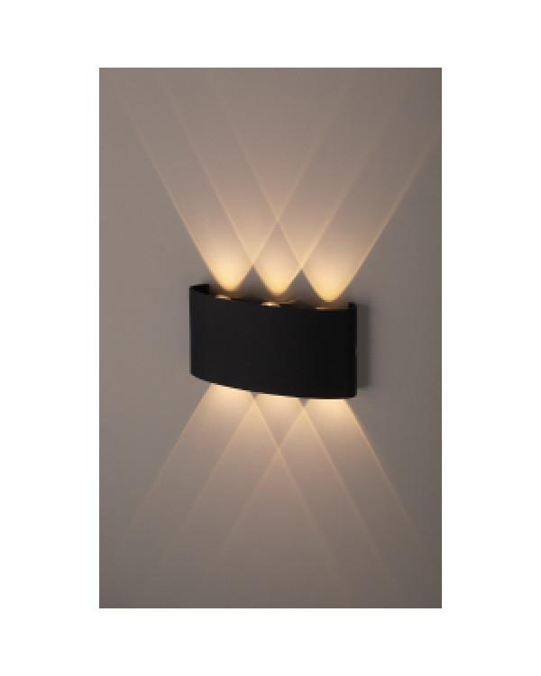 WL12 BK Подсветка ЭРА Декоративная подсветка светодиодная ЭРА 6*1Вт IP 54 черный (20/800), Б0034611